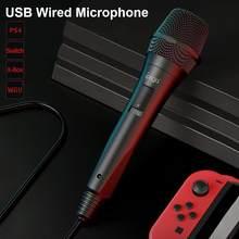 Professionelle Karaoke Mikrofon USB Verdrahtete Lautsprecher Tragbare Mikrofon Ergonomische MIC Für Nintend Schalter PS4 Für PC