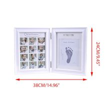 Get more info on the Newborn Hand and Foot Print Mud Baby Hundred Days Full Moon Age Growth Commemorative Photo Frame E65D