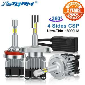 Led-Headlight-Bulbs Auto-Car-Lights Turbo 9006 Hb4 Canbus 6000K H7 Led 18000LM H3 H11 9005