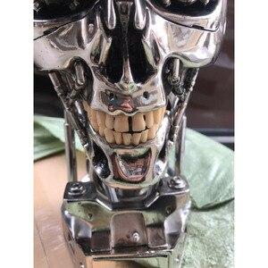 Image 3 - COOL! 1:1 Scale Terminator 39ซม.T 800กะโหลกศีรษะชิปElectroplateเรซินEditionมือชุดตกแต่งบทความ