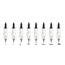 Cartucho de aguja para tatuaje Microblading, agujas M1 L1 R3 R5 F5 F7 usadas para Artmex V8 V6 V3 PMU, máquina de maquillaje semipermanente, 25 uds.