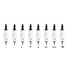 Microblading 25 sztuk igła do tatuażu z M1 L1 R3 R5 F5 F7 igły używane dla Artmex V8 V6 V3 PMU pół makijaż permanentny maszyna do
