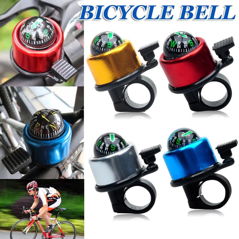 Bike Bell Cycling Handlebar Alarm Bicycle Ring Loud Horn Siren Gold Tone