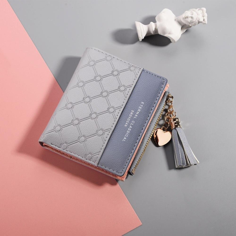 Women Wallets PU Leather Purse Women Wallet Designer Trendy Short Zipper Purse Card Holder Fashion Mini Clutch Coin Bag Carteira