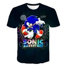 Children Clothes Summer Short Tee Anime Sonic 3D Cartoon Printed T shirt For Boys Girls Popular Kids Boy Tshirt 3 4 5 6 7 8 9