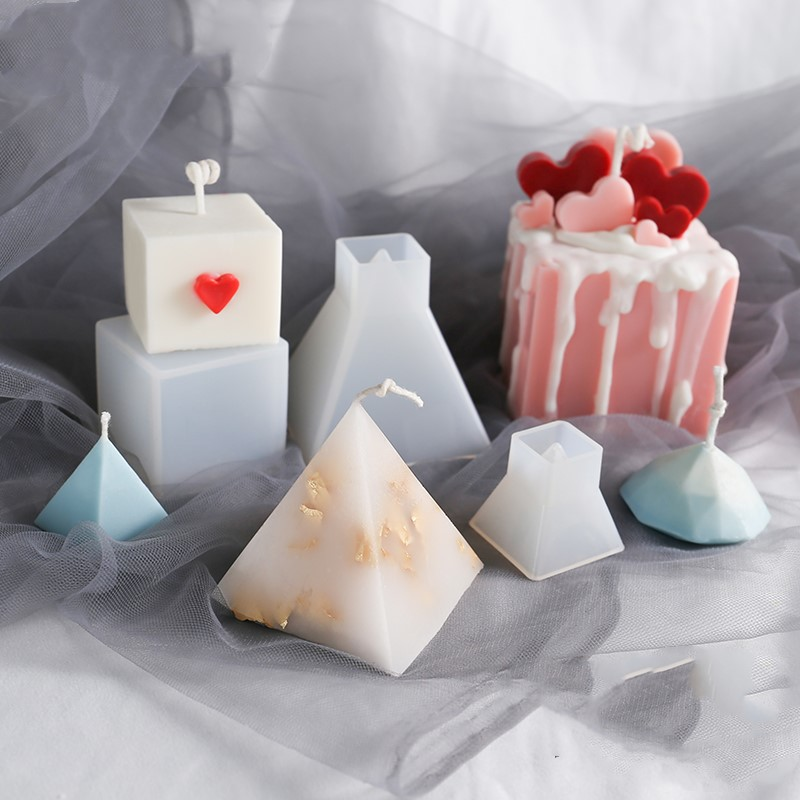 DIY Handmade Candle Mold Cone Clear Plastic Candle Making Model Reusable Candles Shaping Mould