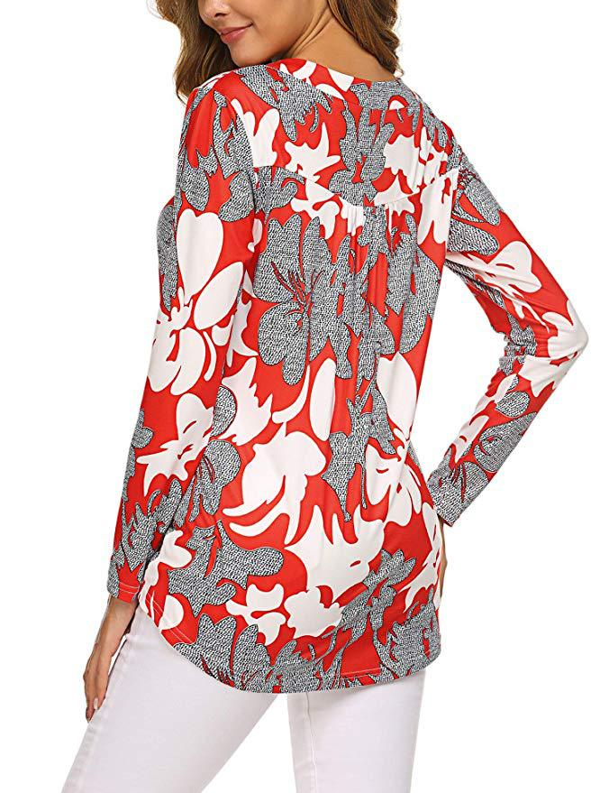Hb83a90e805a14f8dae812a1613d89d7bf - Large size Blouse Women Floral Print Long Shirts elegant Long Sleeve Button Autumn Tunic Tops Plus Size Female Clothing