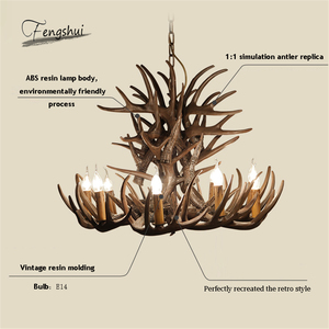 Image 5 - Nordic LED Chandelier E14 Pendant Lamp Lighting Hanglamp Industrial Buck Deer Horn Antler Bedroom Living Room Kitchen Fixtures