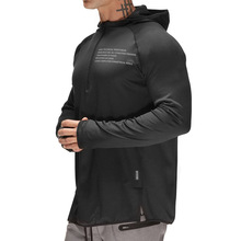 Summer Sport Hooded T Shirt Men Compression Fitness Tights Quick Dry Long Sleeve Tee Tops Gym Train T-Shirt