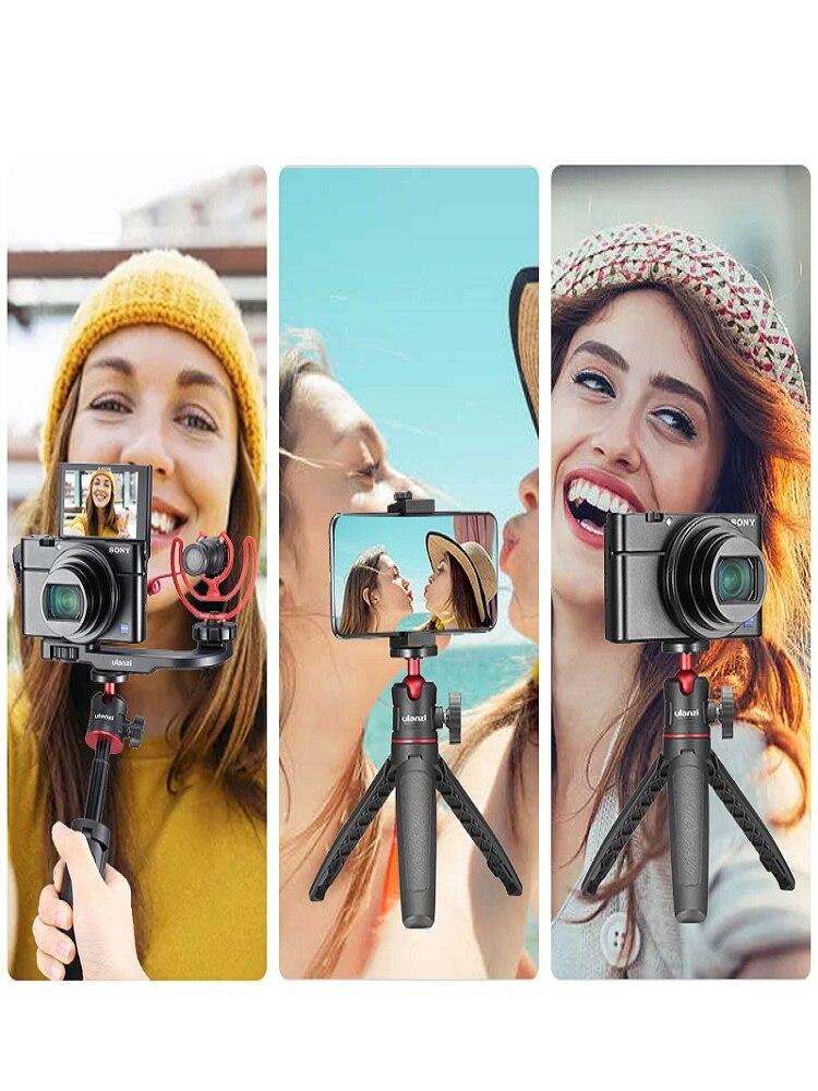 Ulanzi MT-08 DSLR SLR Phone Vlog Extend Tripod 1.5KG Maxload Adjustable Tripod