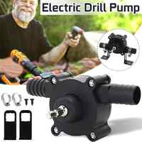 Portable Electric Drill Pump Diesel Oil Fluid Water Pump,Mini Hand Self-priming Liquid Transfer Pumps