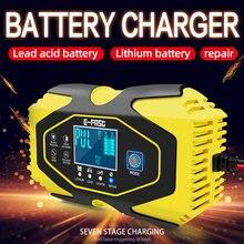 Chargeur de batterie de voiture Intelligent en 7 étapes 12V 24V 6a, pour GEL humide AGM 12.6V Lithium LiFePO4 LiPo