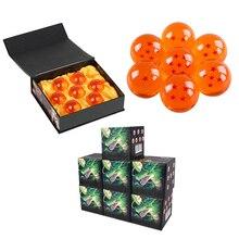 7 개/대 3.5cm 드래곤 볼 Z 7 별 크리스탈 공 Dragonball 완료 세트 1pcs 상자에 7.6cm 큰 크기 공 소매/도매