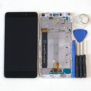 Image 5 - המקורי M & סן עבור Xiaomi Redmi הערה 4 הערה 4 מדיאטק MTK Helio X20 3GB 32GB LCD מסך תצוגה + מגע Digitizer מסגרת 7 חורים