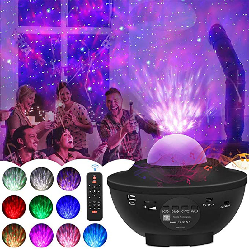 LED sky Galaxy Star Projector Remote Bluetooth music box player colour holiday Lighting Lamp USB rechargable Starry night lamp