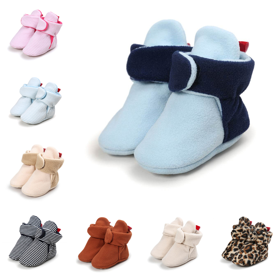 Unisex Baby Newborn Cozie Faux Fleece Bootie Winter Warm Infant Toddler Crib Shoes Classic Floor Boys 0-18M