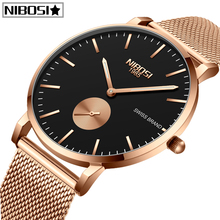 купить NIBOSI Watch Women And Men Watch Top Brand Luxury Famous Dress Fashion Watches Unisex Ultra Thin Wristwatch Relojes Para Hombre дешево