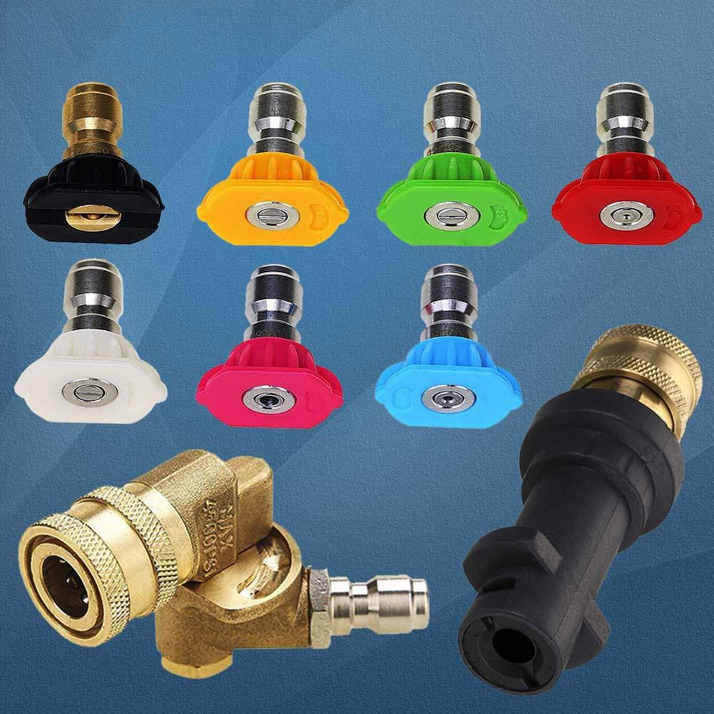 80% HOT SALES!!! 9Pcs Quick Connect Fitting Spray Nozzle Tips 1/4inch Suitable for Karcher K Series