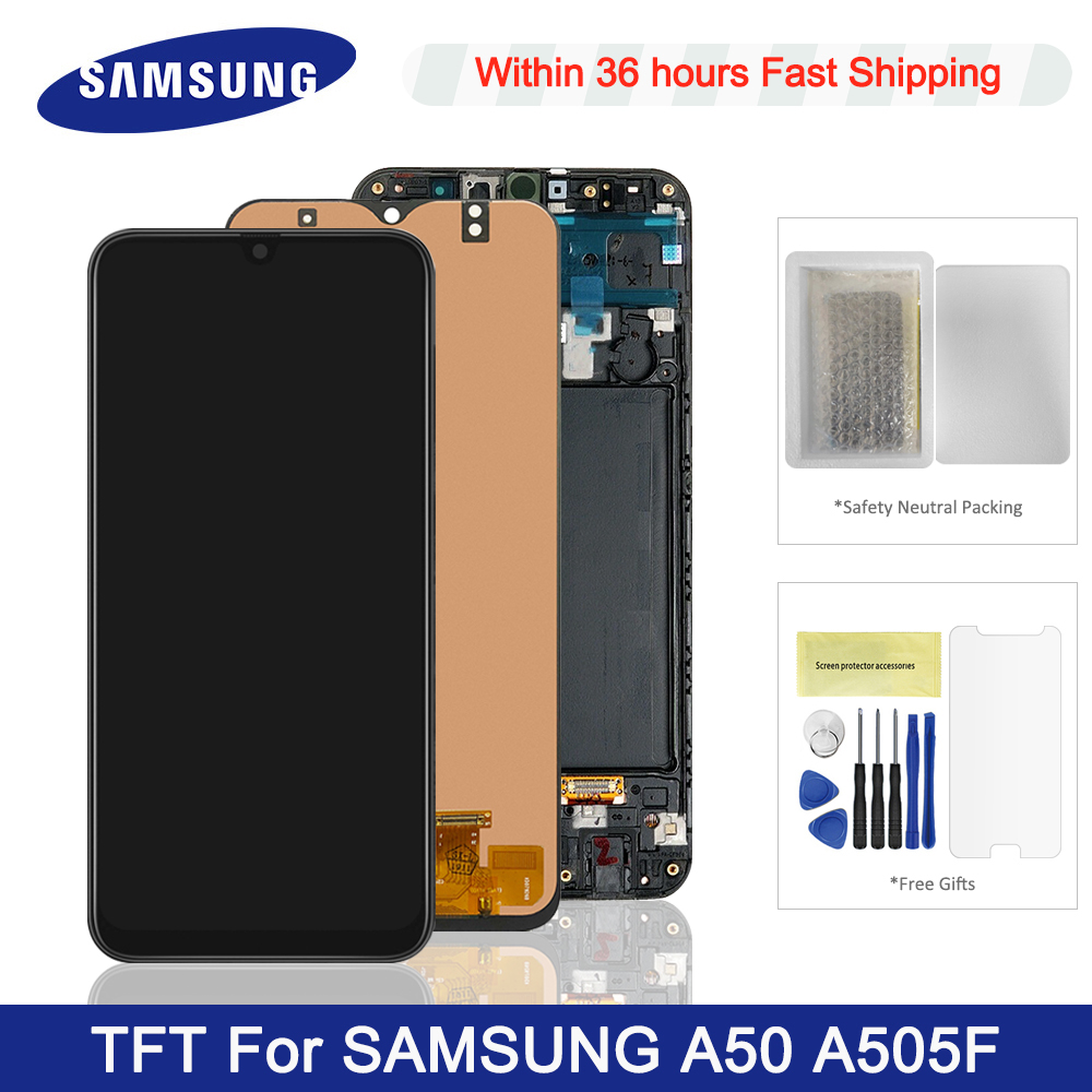 TFT <font><b>LCD</b></font> For <font><b>Samsung</b></font> Galaxy <font><b>A50</b></font> <font><b>LCD</b></font> Display With Frame Touch Screen Digitizer For <font><b>Samsung</b></font> <font><b>A50</b></font> <font><b>LCD</b></font> A505 A505F A505FD <font><b>LCD</b></font> Screen image