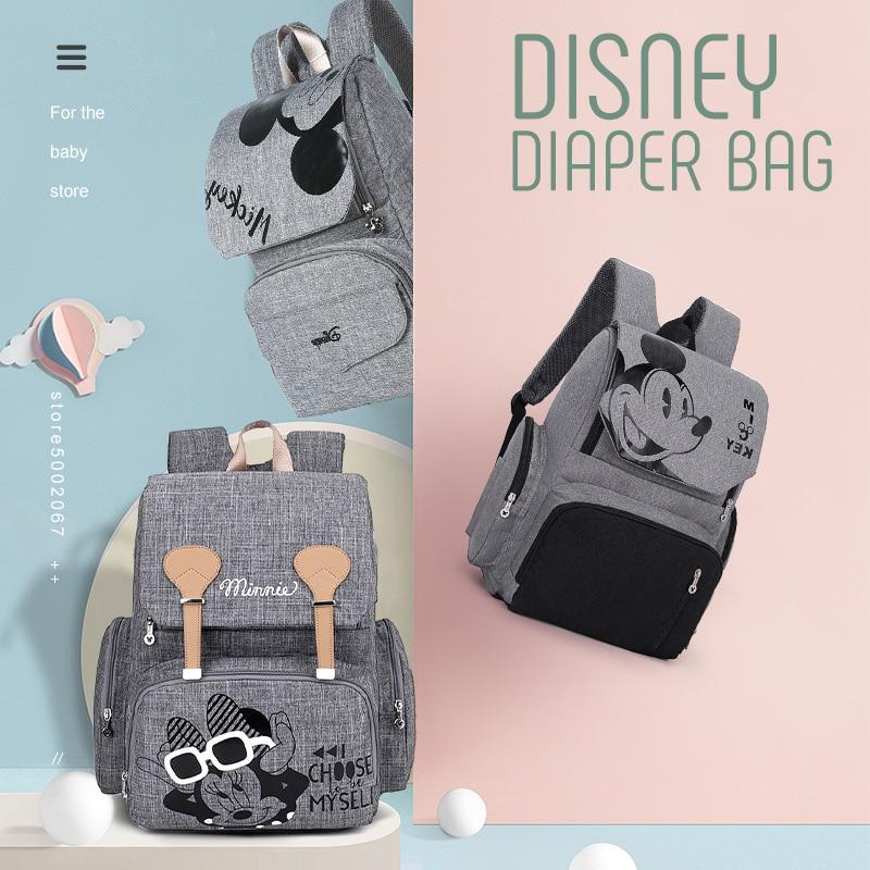 Disney Mickey Minnie sac à langer sac à dos maman sac maternité poussette sac étanche bébé sac à langer grande capacité à la mode