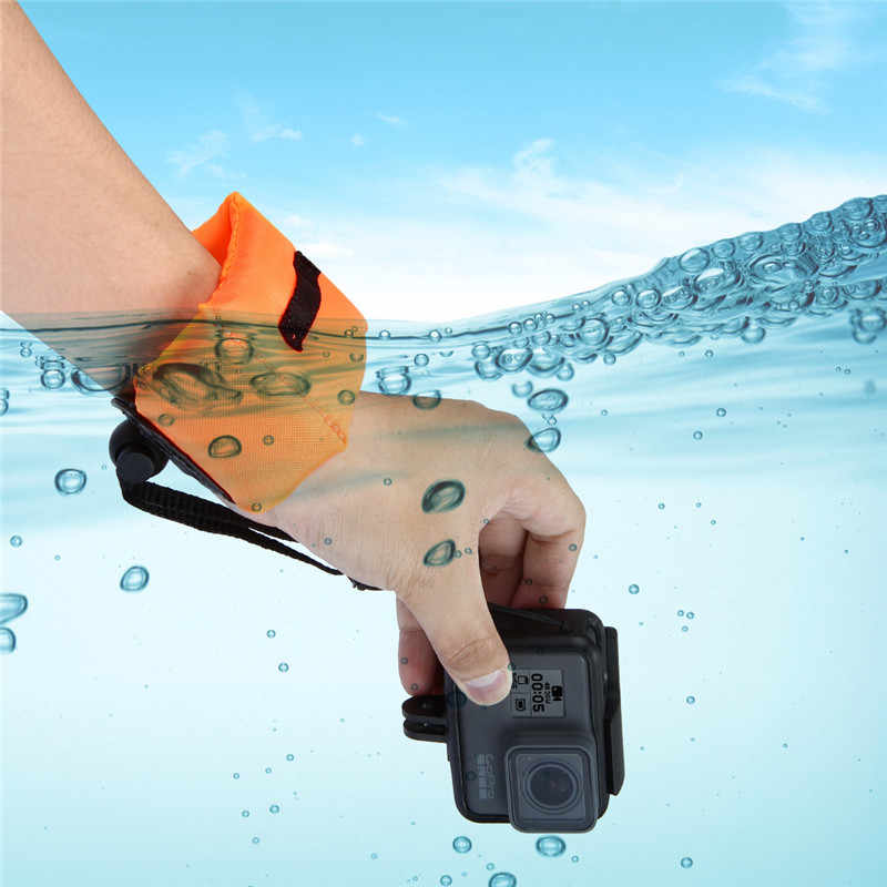 For GoPro Accessory Diving Swimming Floating Bobber Hand Wrist Strap for Go Pro Hero 4 5 6 7 Sjcam Sj4000 D20 D30 Action Cam