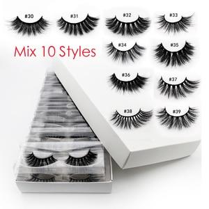 Image 5 - Cils en gros 20/40/50/100 pièces 3d cils de vison naturel cils de vison en gros faux cils maquillage épais faux cils en vrac