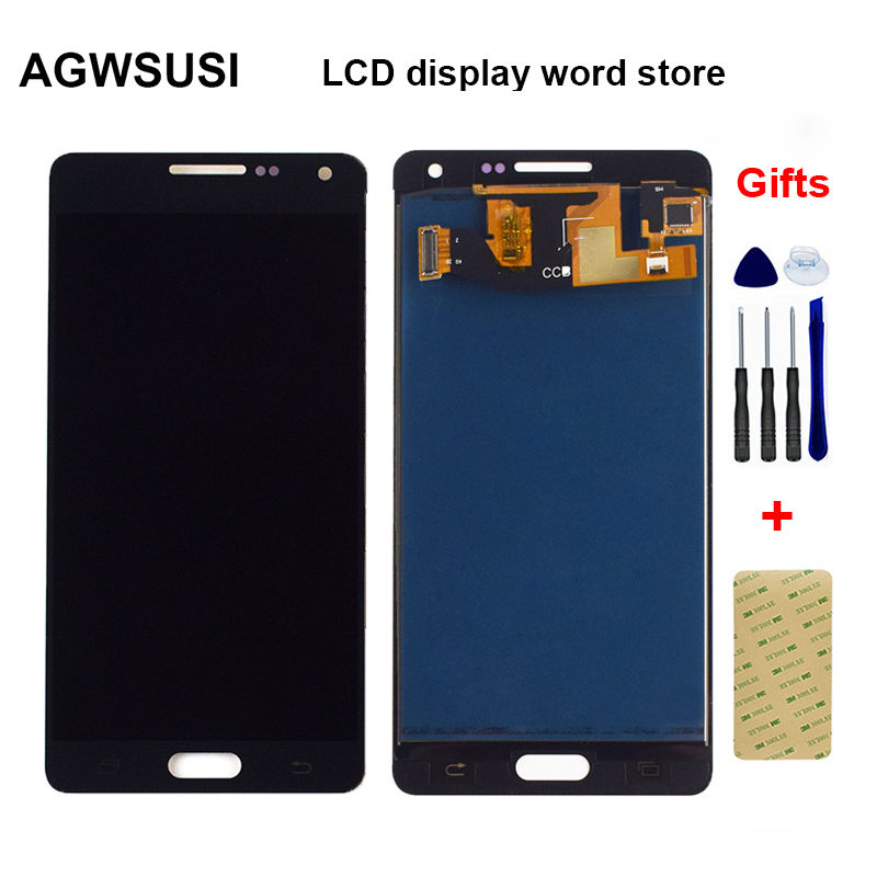 Backlight Adjustable For Samsung A5 2015 A500 A5000 A500F A500FU A500M LCD Display Monitor + Touch Screen Digitizer Assembly