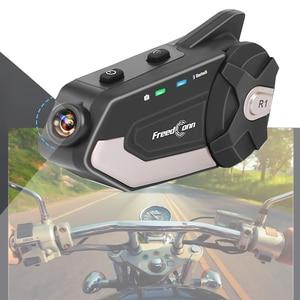 Мотоциклетный видеорегистратор, Bluetooth, шлем, гарнитура, рекордер 1080P, камера, рекордер для записи видео R1