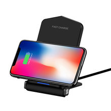 15W Qi Wireless Charger Quick Charge 3.0 USB Fast Charging for iPhone 11 Pro XS max XR 8 X Samsung S9 S10 Fold PHONE Stand Pad(China)