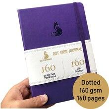 Dot Grid Journal Notebook 5.6X8 นิ้วปกแข็งFaux PUหนัง,Sketchbookสำหรับไอเดีย