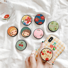 Universal cute small fresh cartoon mobile phone bracket security ring airbag for iPhone xiaomi