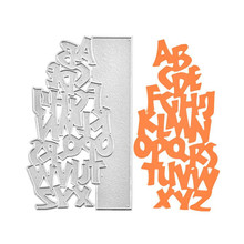 Naifumodo Letter Dies Alphabet Border Metal Cutting Die for DIY Scrapbooking Craft Card Embossing Cut New Template
