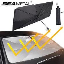 Pára-brisa do carro sun sombra guarda-chuva retrátil reflexão uv auto pára-sol capa janela frontal sol proteger para o carro fácil de armazenamento