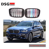 2-Slats Front Kidney Grill For BMW X3 X4 G01 G02 Racing Grille ABS xDrive20i xDrive30i 2018+