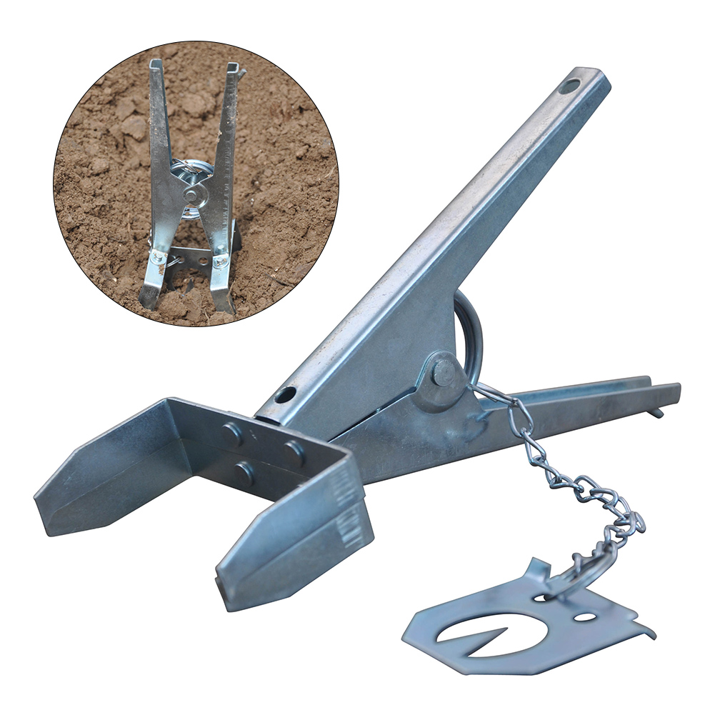 Claw Multifunction Mole Trap Control Eliminator Scissor Type Powerful Galvanised Mole Trap Easy Setup Reusable Catching