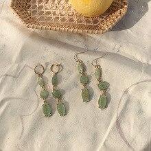 retro  long super fairy irregular  earring  bohemian green vintage   drop vintage earrings for women  indian jewelry цена