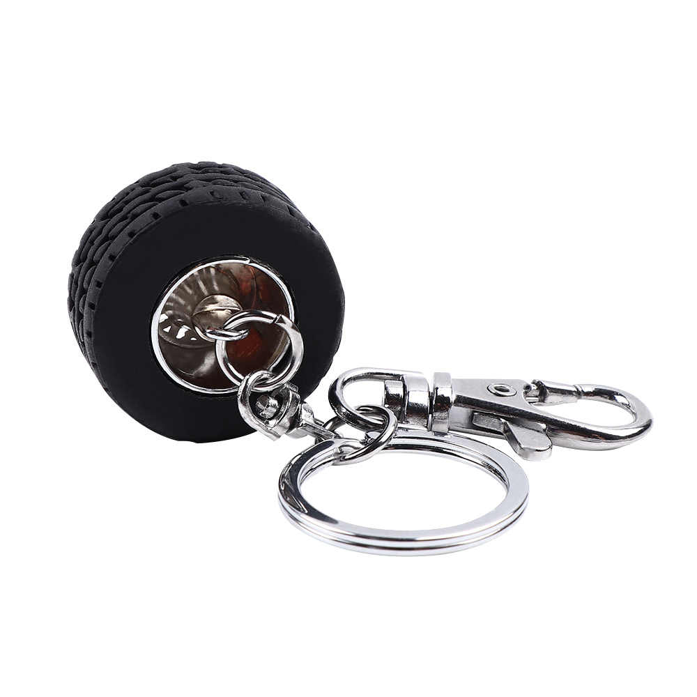 Nieuwe Creatieve Aluminium Sleutelhanger Trendy Charmante Sleutel Accessoires Mode Grappige Auto Racing Tire Modellen Sleutelhanger