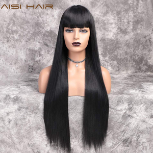 AISI HAIR Long Black Straight