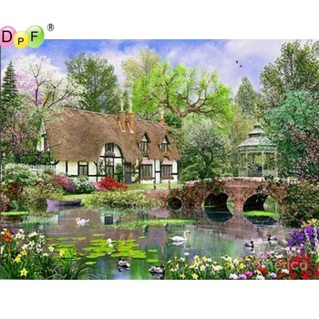 5D round/square Cross Stitch scenery DIY Diamond Painting Diamond Embroidery kits Diamond Mosaic home Decorative drill image
