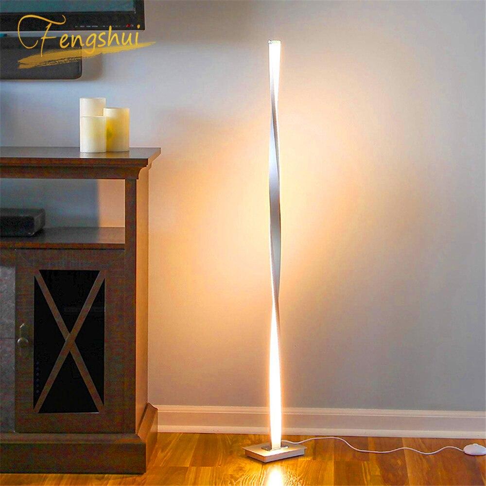 Moderne LED lampadaires éclairage salon lampadaire LED chambre gradation nordique bureau lampe sur pied intérieur décor lampe de table