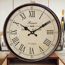 Retro Wall Clocks Home Decor Living Room Wall Watches Home Decor Silent Bedroom Kitchen Clock Horloge Mural Vintage Home SC532 cheap SAFEBET Bamboo Wooden Still life Needle 30cm Antique Style Single Face Separates 30mm circular American Style 550g QUARTZ