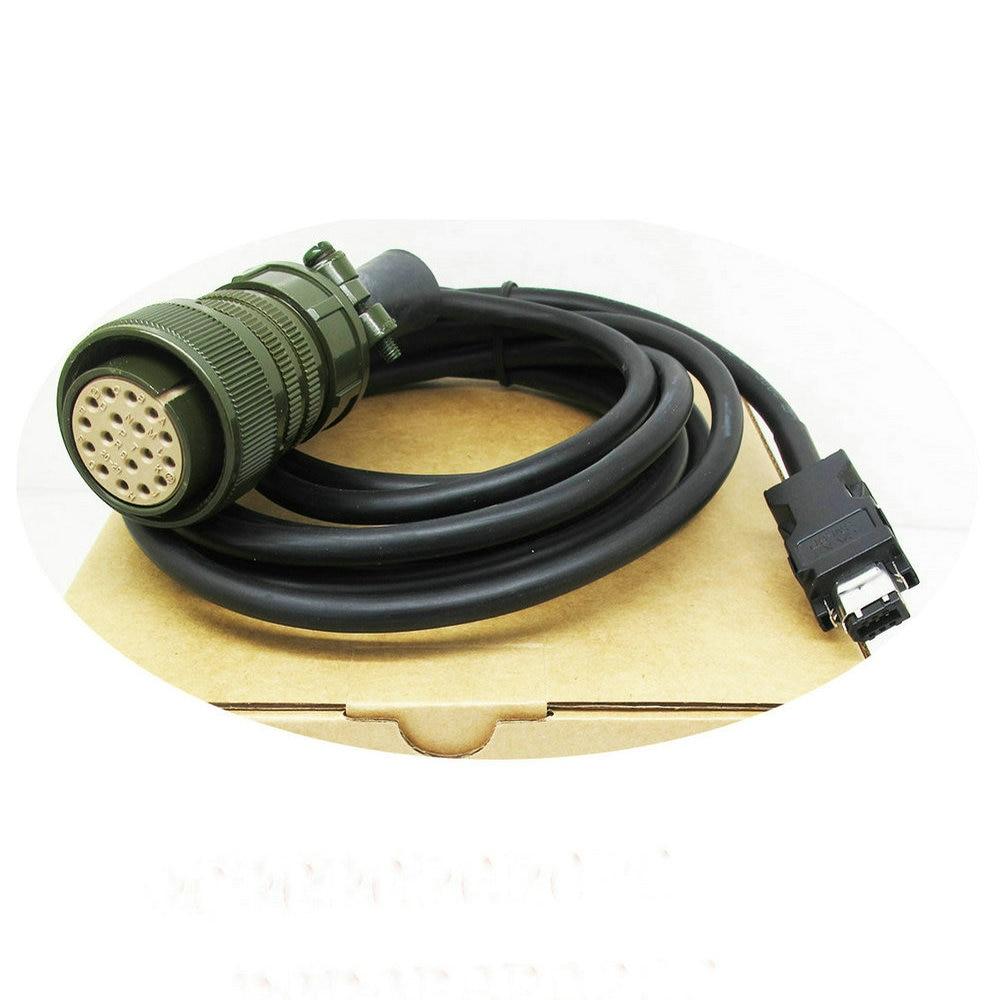 JZSP-CMP01-05-E / -10-E 2M 3M 5M 8M 10M Longitud servo cable codificador con conector de 17 núcleos 6,3 enchufe plano de púas resorte terminal frío cableado enchufe de codo primavera