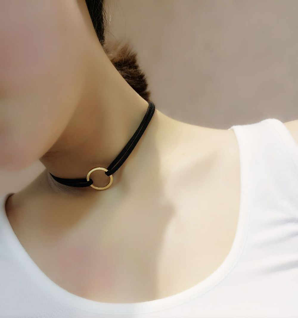 New Leather Choker Charm Necklace Vintage Party Chocker Goth Necklace Jewellery