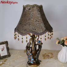 European style desk lamps living room peacock stand table lamp bedroom table fixtures home decor bedside lighting peacock holder