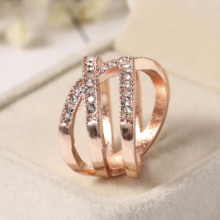 2020 New Trendy Wedding Rings for Women Engagement Ring  Anniversary Stackable Rings Rose Gold Color Ring  Jewelry for Women