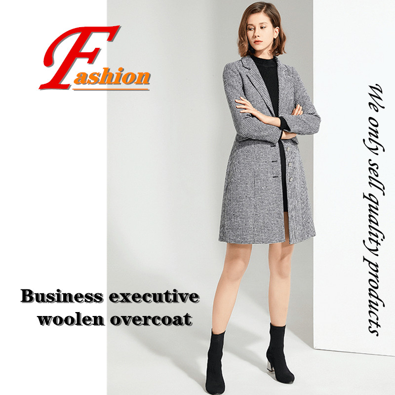 High-grade new style women's classical business casual no-iron Anti-Pilling all-match comfortable lady executive longer coat