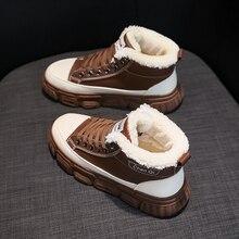 Winter Shoes Platform-Boots Ladies Boot High-Heels Women Ankle Warm Plush