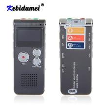 Kebidumei 새로운 미니 USB 플래시 펜 8 기가 바이트 3 1 디스크 드라이브 디지털 오디오 보이스 레코더 650Hr 딕 터폰 3D 스테레오 MP3 플레이어