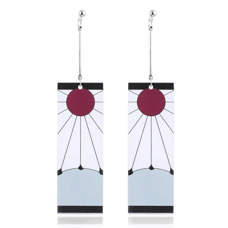 Акриловые серьги-подвески в стиле аниме «клинок призрака» для женщин и мужчин, ювелирные изделия для косплея, рассекающие демонов, Kimetsu no Yaiba...