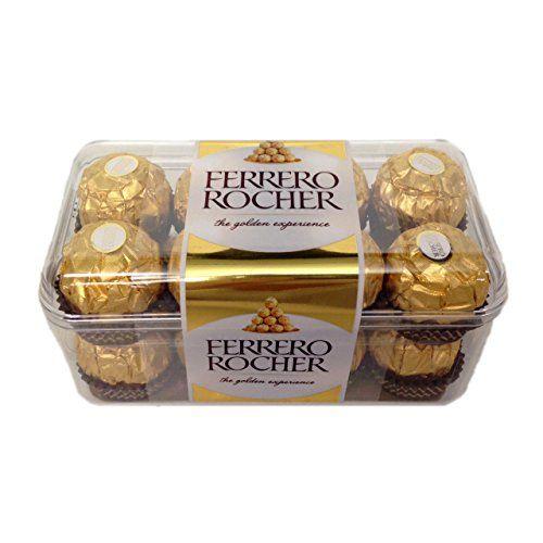 Ferrero Rocher - Caja De Regalo Con 16 Piezas - 200g - Caja De Regalo Chocolates Ferrero Rocher 16 Piezas 200g, Caja Individual